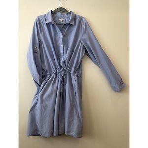 GAP Pinstripe Chambray Shirtdress